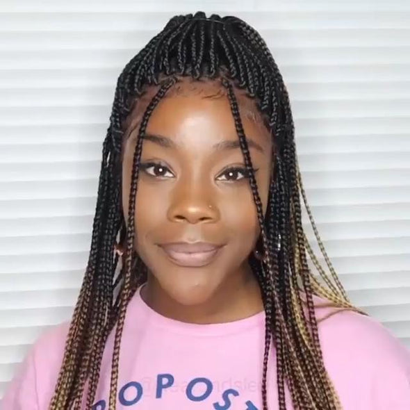 Most Realistic Ombre Box Braid Wig