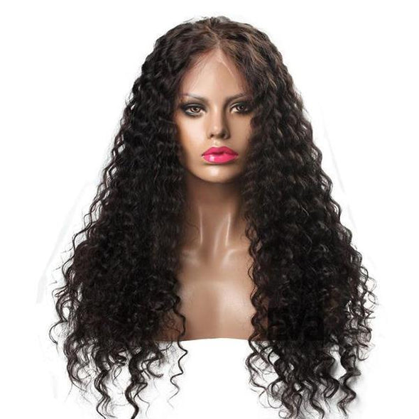 Black Long Curly | Japanese Fiber Lace Front Wig (Base Cap)