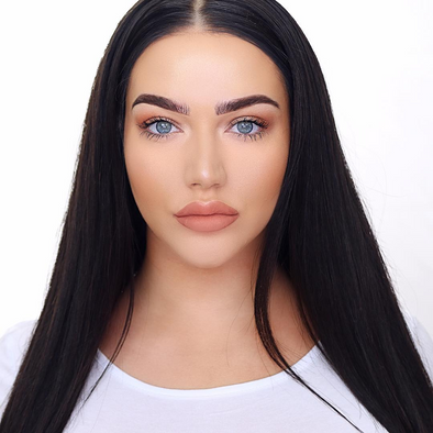 "24"" black straight long hair lace front wig"