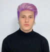 Men's grape purple wig