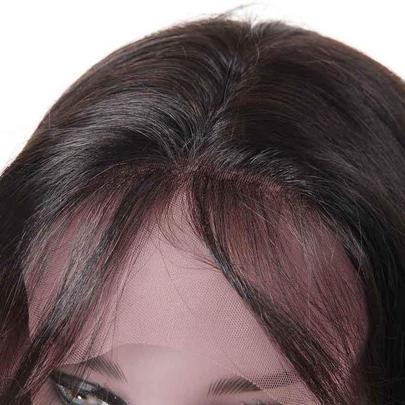 HIALILY Straight Hair Lace Front Wig 100% Virgin Human Hair Wigs