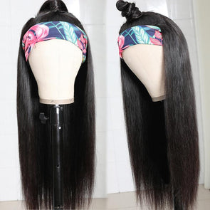Straight Hair Headband Wig *No Lace No Glue* Beginner Friendly & Convenient