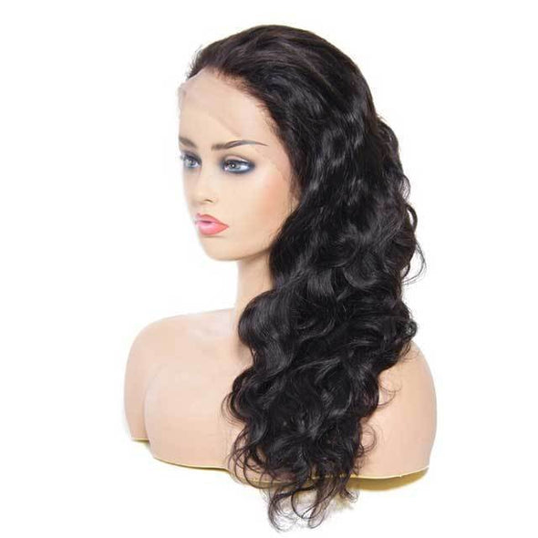 Uniqueen Pre Pluck Body Wave Brazilian Human Hair Wigs | Lace Frontal Cap
