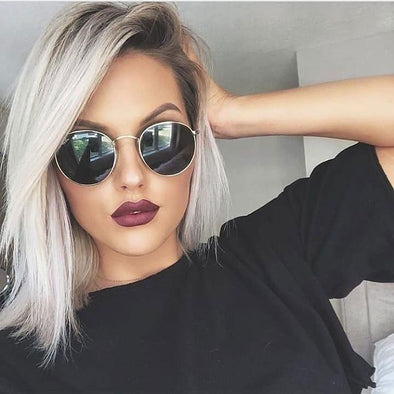 2020 Summer new straight short hair platinum wig