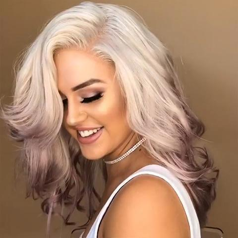 2020 Beautiful White and pink wig