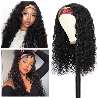 Deep Wave Headband Wig *No Lace No Glue* Beginner Friendly & Convenient