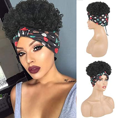 Headband Puff Curly Wig