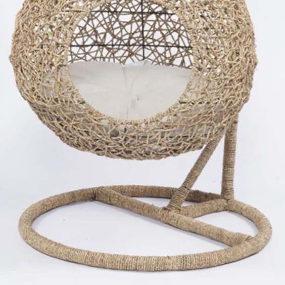 Swing Rattan Weaving Cushion Home Decor Summer Pet Bed
