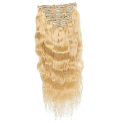 Russian Blonde Wavy Clips