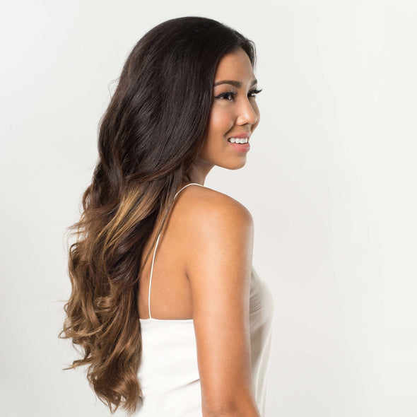 Luxy Hair Clip-In Hair Extensions Ombre Chestnut
