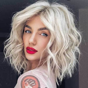 2020 summer platinum short hair