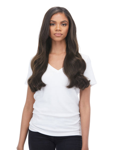 "Seam hair piece 24"" Dark Brown (2) Hair Extensions"