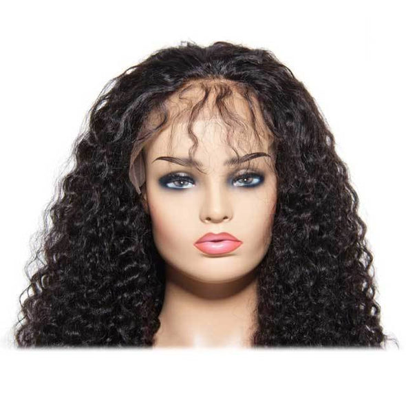 Uniqueen Human Hair Wigs | Jerry Curly Lace Front Cap