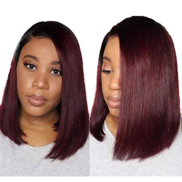 UNI WIG-New wine red hot short hair