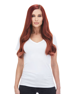 "Seam hair piece 24"" Vibrant Red (33) Hair Extensions"