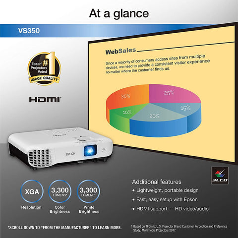 Epson VS350 Business Projector - Church Technology Superstore