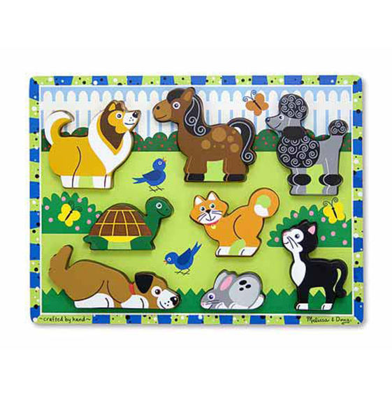 Melissa And Doug - Pets Chunky Puzzle 8 Pc