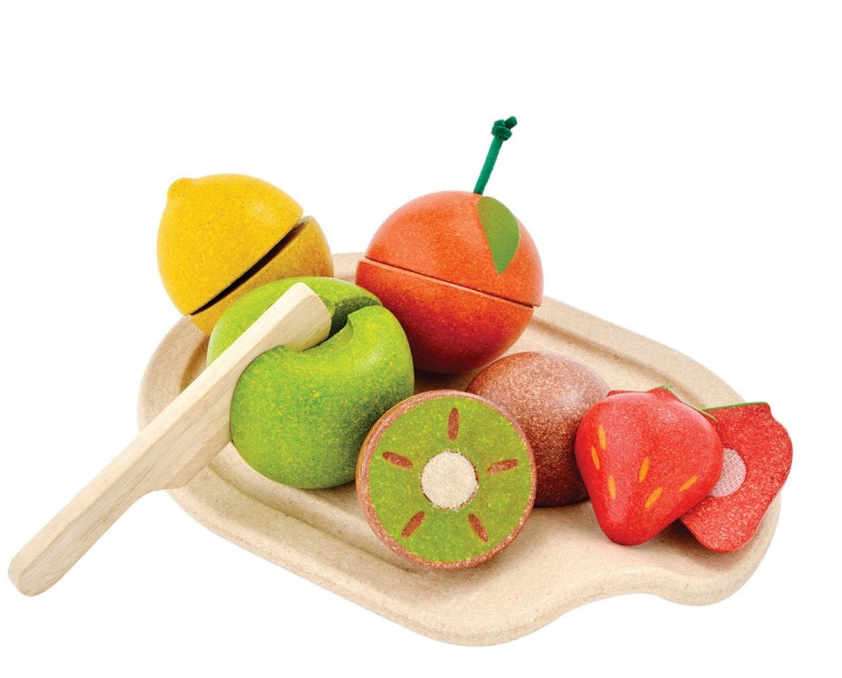 Plan Toys Wooden Fruit Cutting Set at Little Sprout