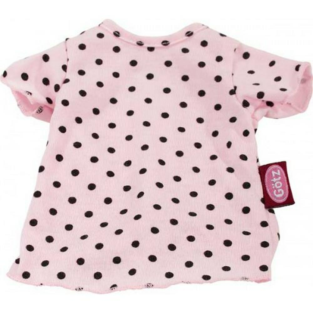 Gotz - Clothing T-shirt Pink And Black Dots