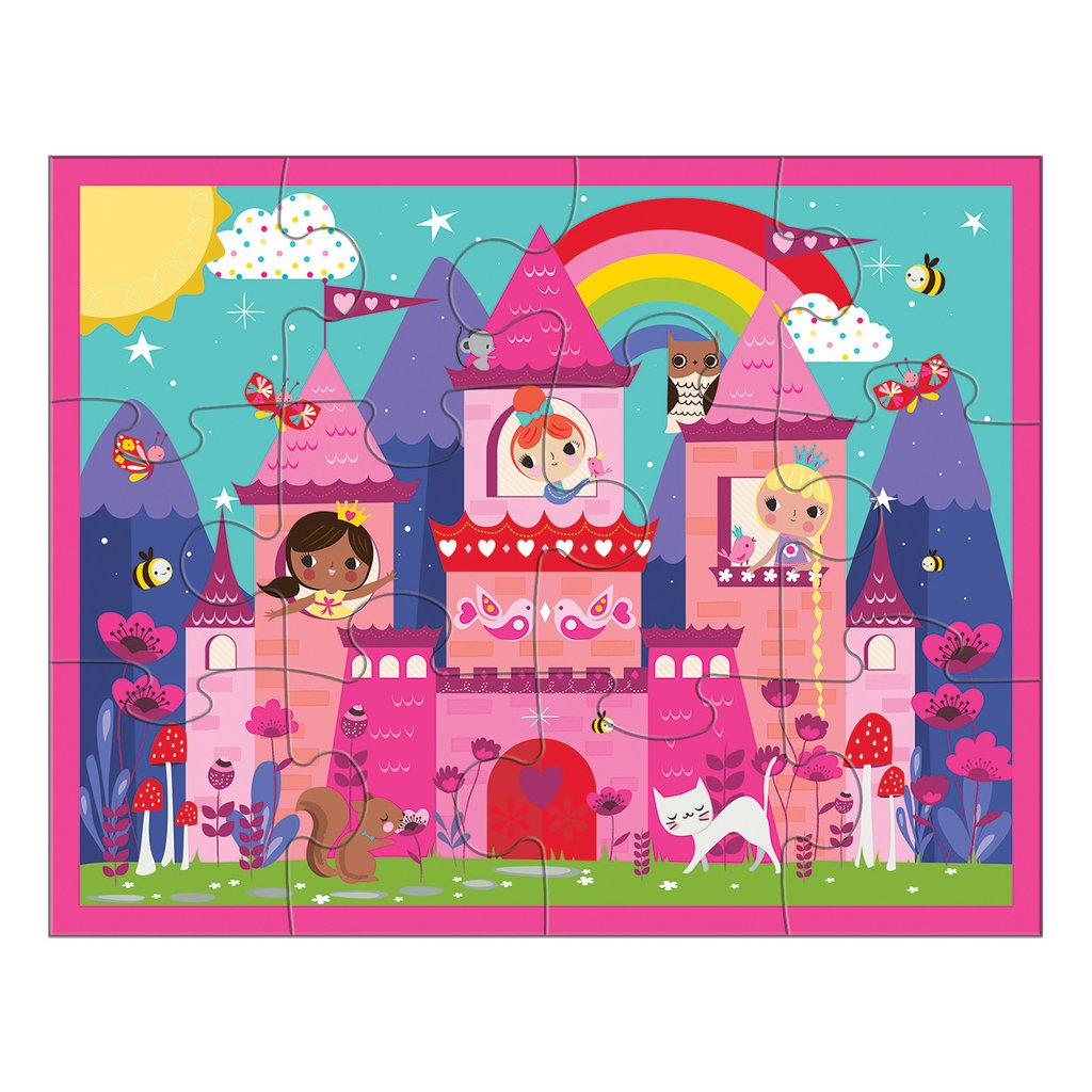Mudpuppy - Pouch Puzzle Princess Castle 12 Pc