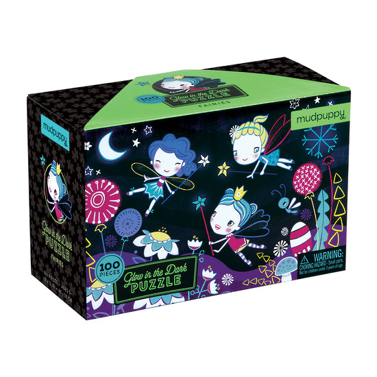 Mudpuppy - Fairies Glow In The Dark Puzzle 100 Pc