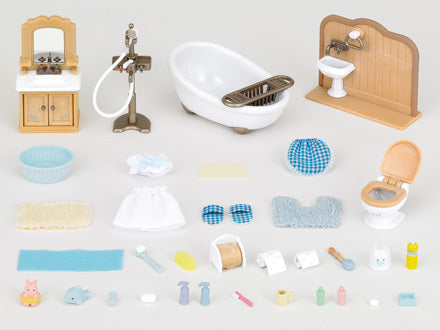 Sylvanian Families Country Bathroom Set 5034 available at Little Sprout