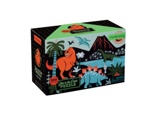 Mudpuppy - Glow In The Dark Dinosaurs Puzzle 100 Pc