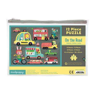 Mudpuppy - On The Road Pouch Puzzle 12 Pc