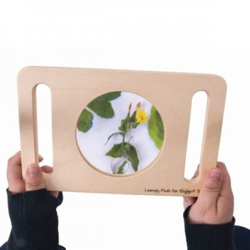 Wooden Two Hand Magnifying Glass