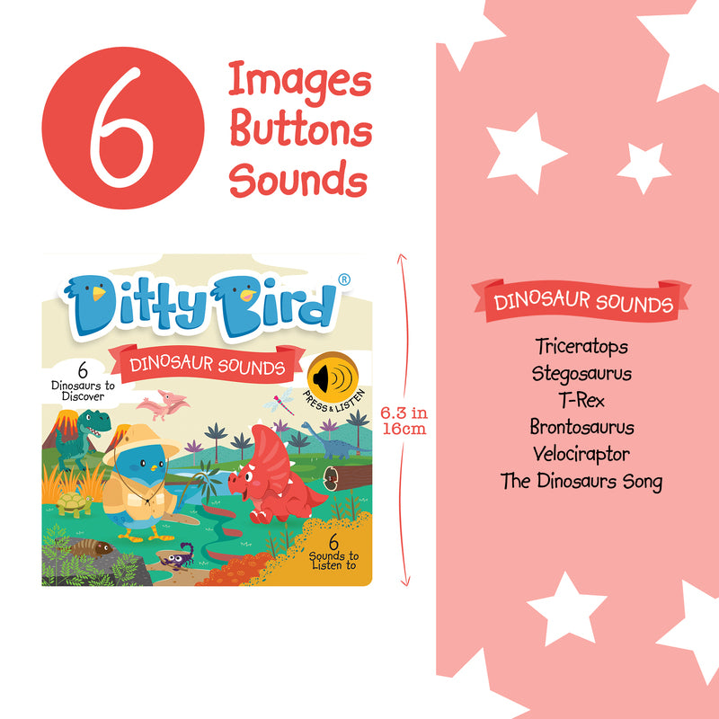 Ditty Bird Dinosaur Sounds Book