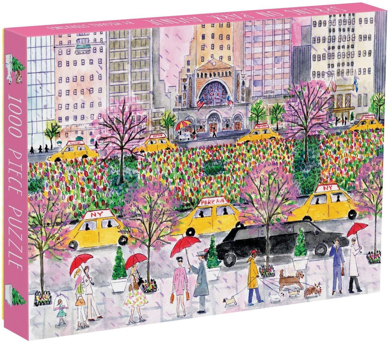 Galison Spring Park Avenue Puzzle 1000 Pieces