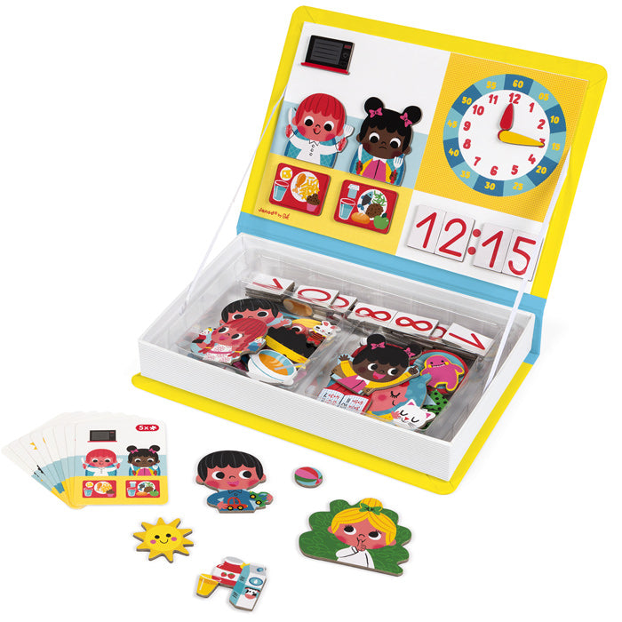 Janod Magnetibook Tell the Time educational toy