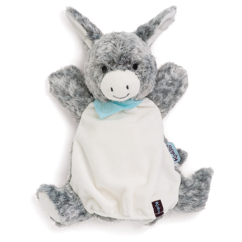 Kaloo Les Amis Donkey Puppet on card