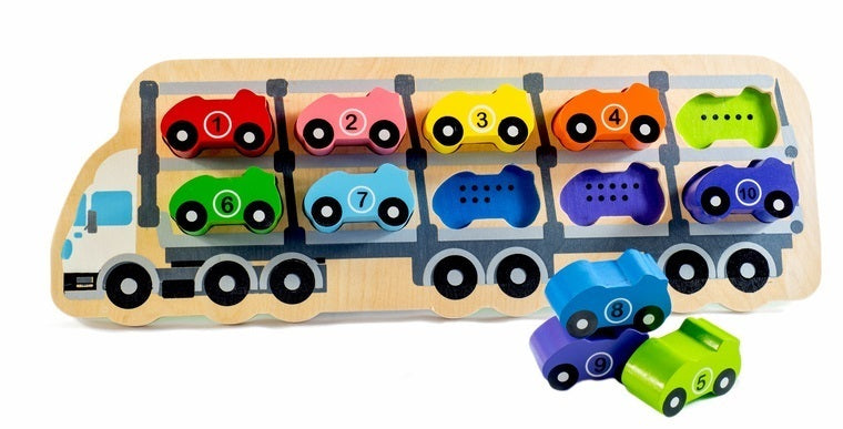 Kiddie Connect Wooden Car Puzzle