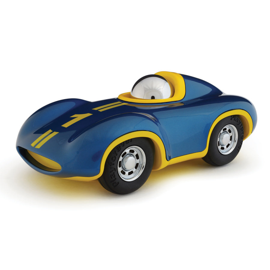 Playforever Mini Blue and Yellow Race Car