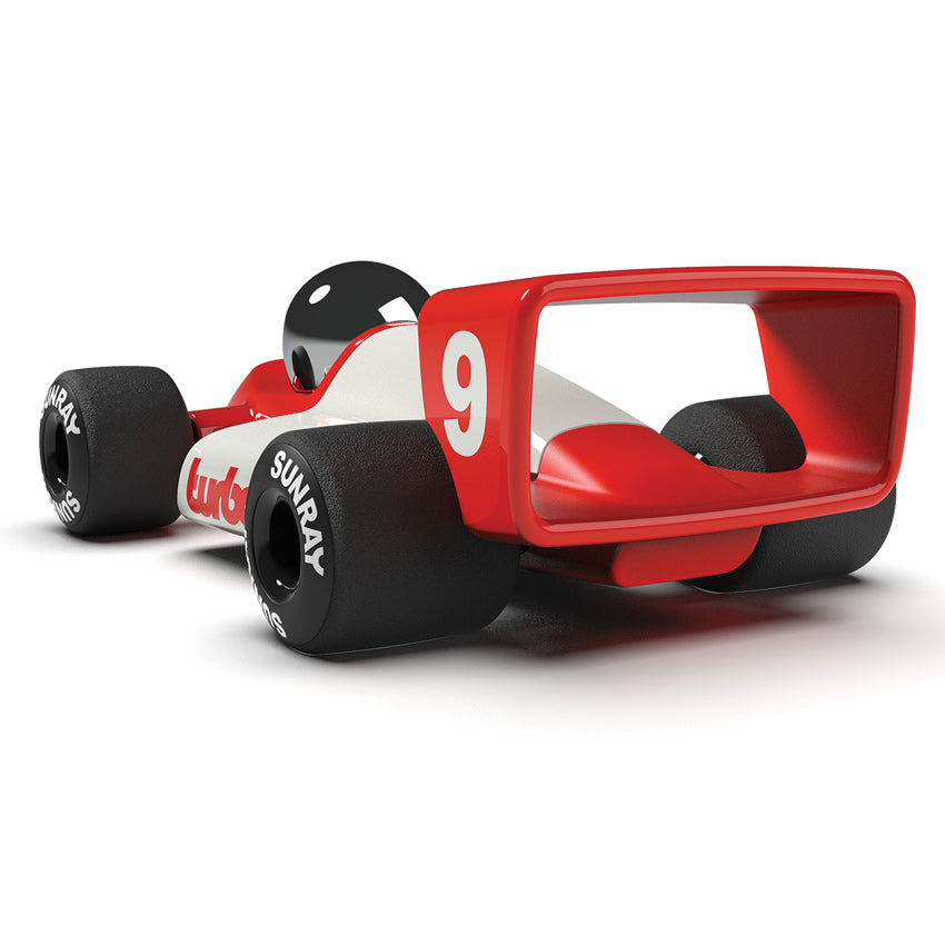 Playforever Turbo Lauper Red White Classic Race Car