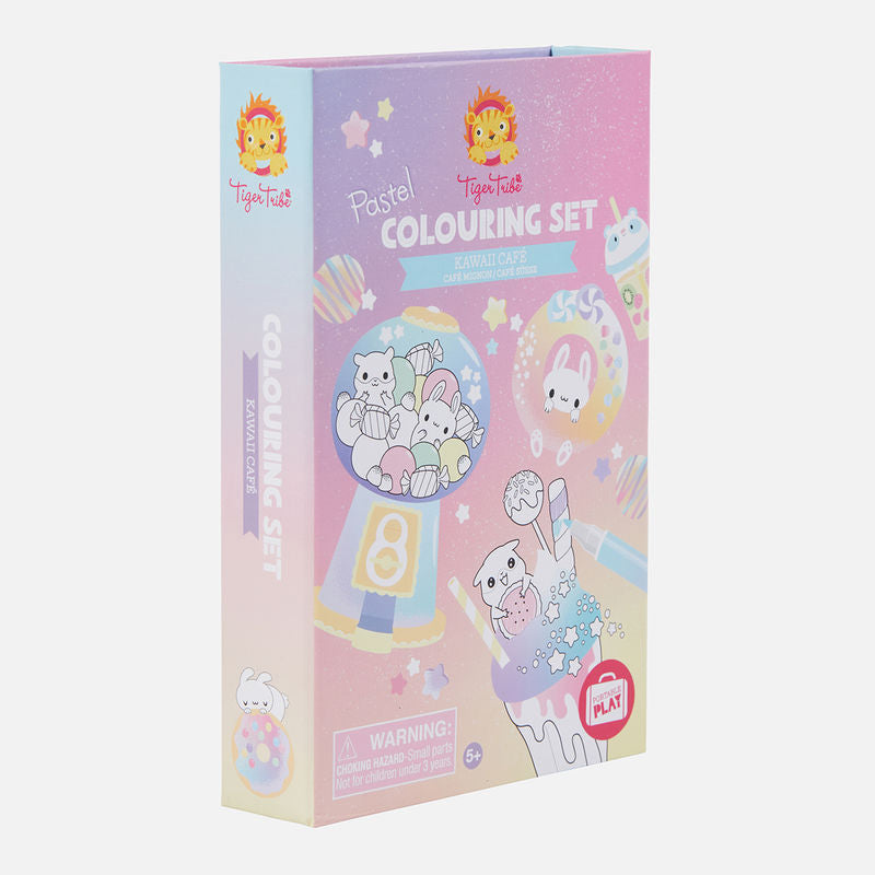 Tiger Tribe Colouring Set Kawaii Cafe Colouring Set box
