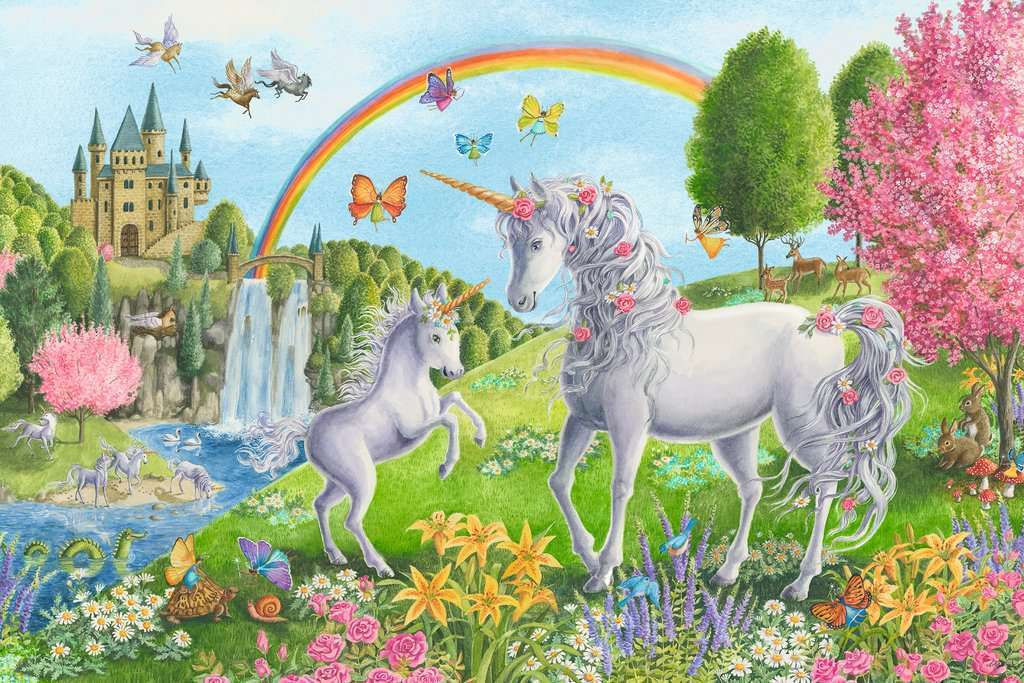 Ravensburger Supersized Floor Puzzle Prancing Unicorns 24 Pc