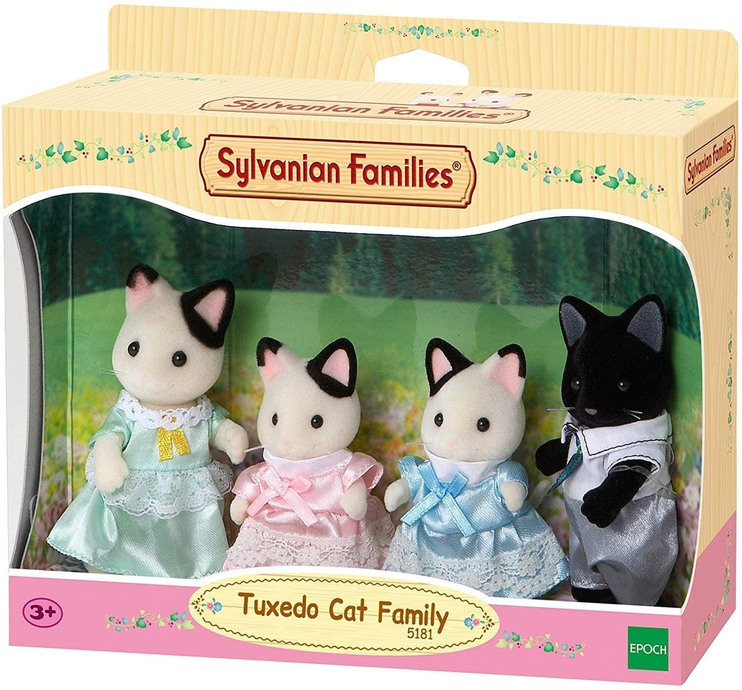Sylvanian Families 5181 Tuxedo Cat Family in box