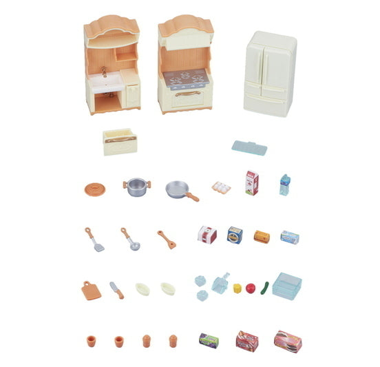 Sylvanian Families 5341 Kitchen Play Set in box