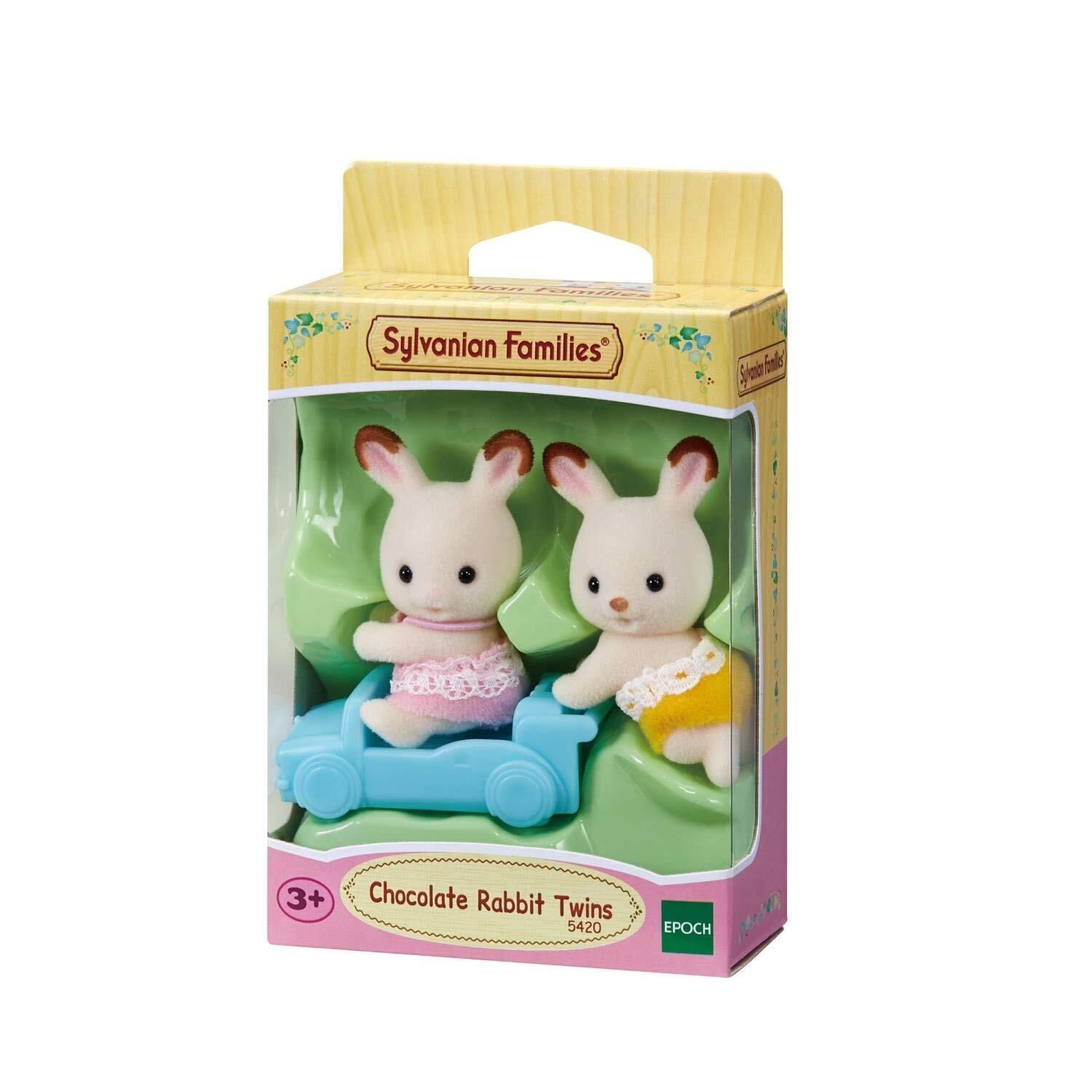 SF 5420 Sylvanian Families Chocolate Rabbit Twins