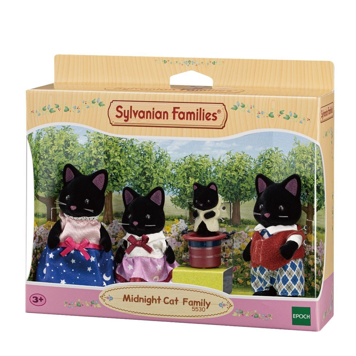 Sylvanian Families Midnight Cat Family