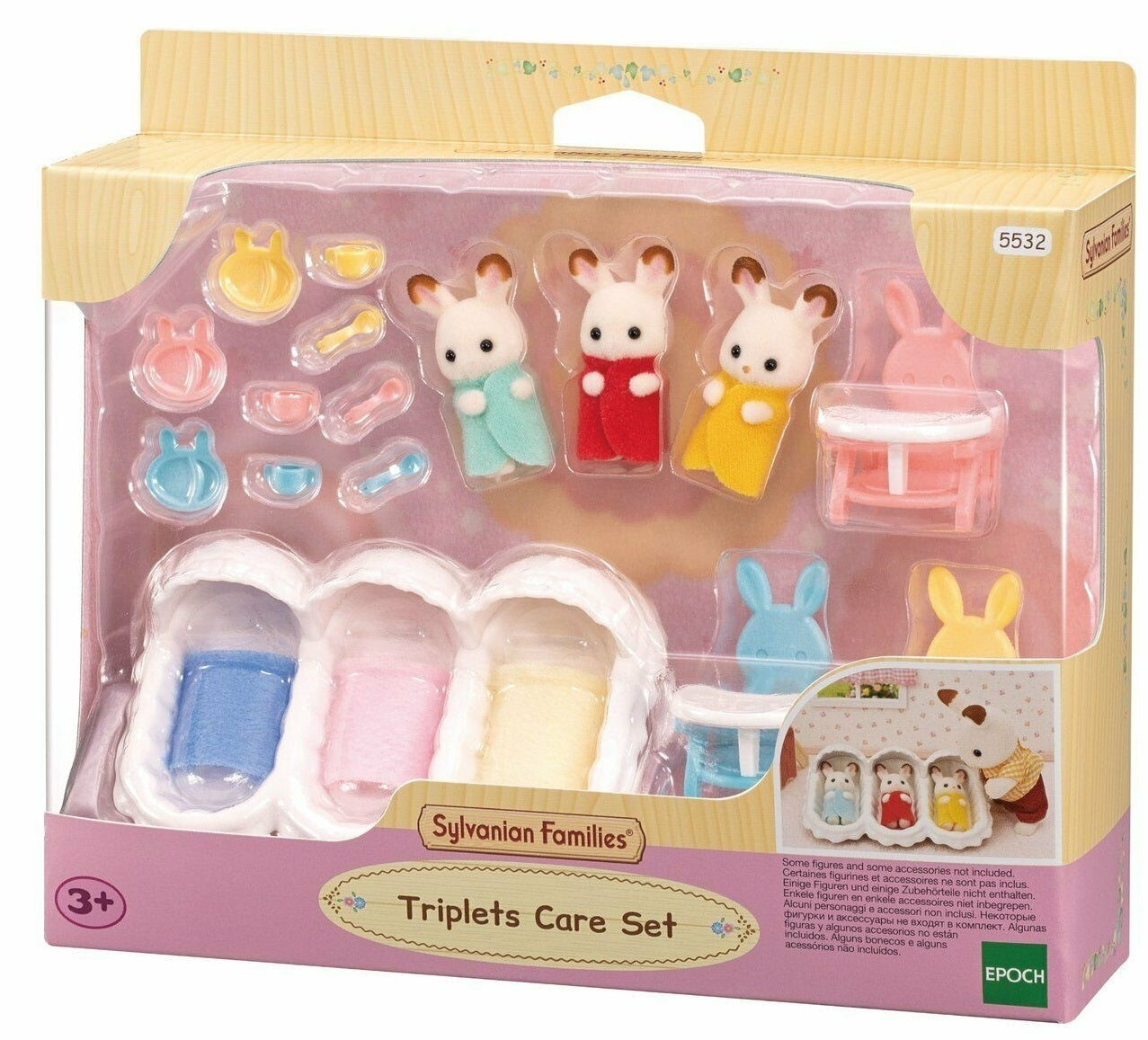 Sylvanian Families 5532 Triplets Care Set in box