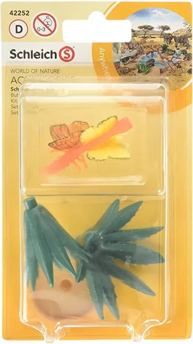 Schleich 42252 Butterfly Set and Agave Plant
