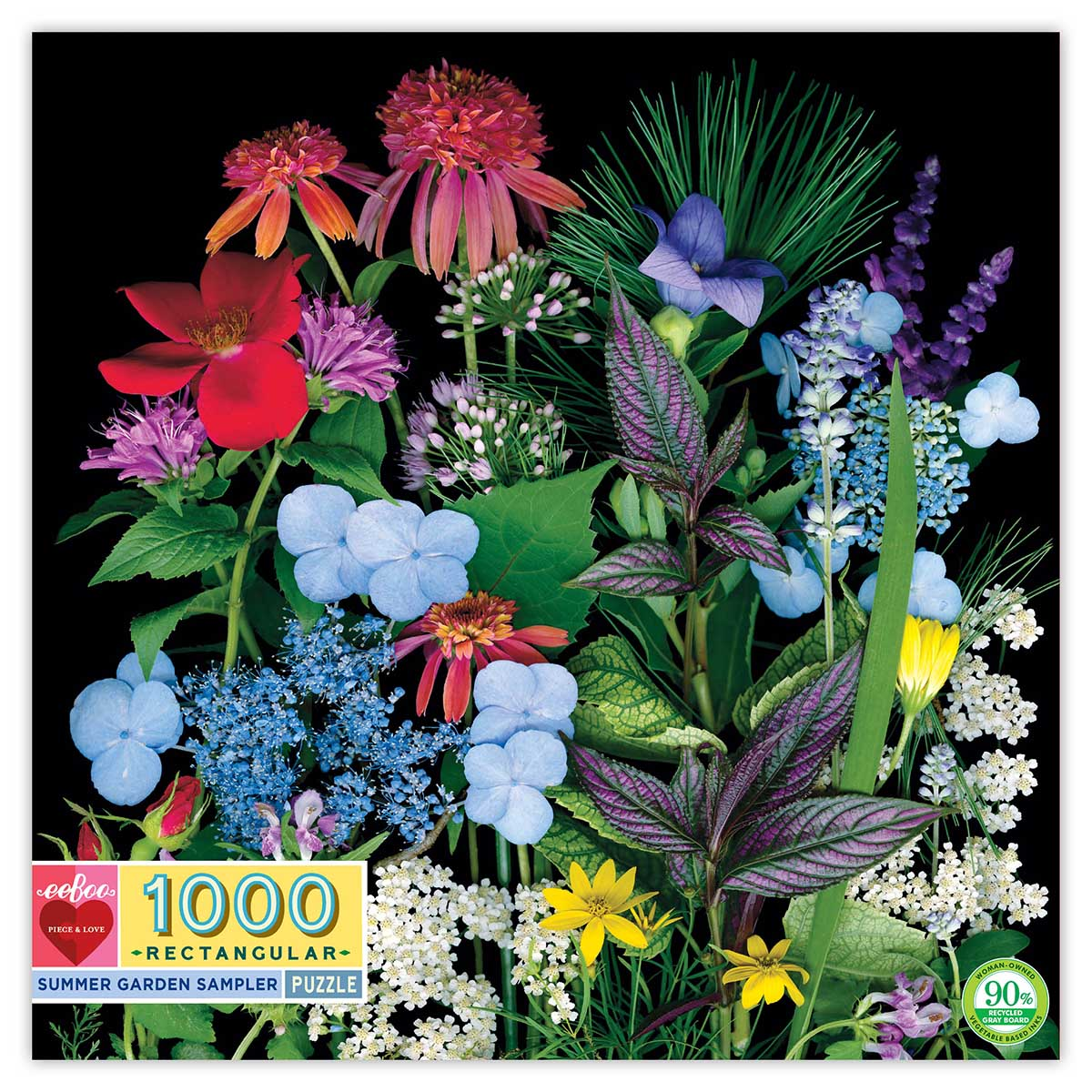 eeBoo Summer Garden 1000 Piece Puzzle at Little Sprout