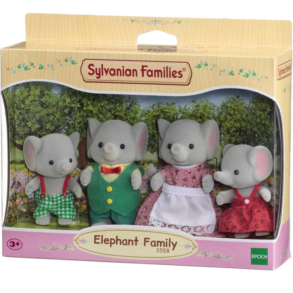 Sylvanian Families 3558 Elephant Family in box