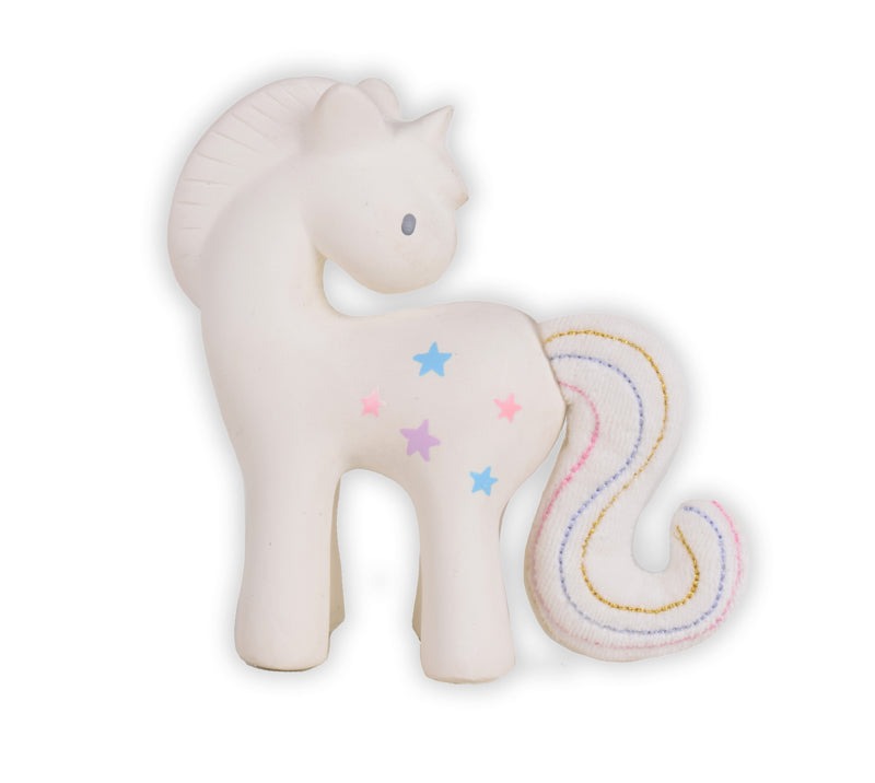Tikiri Cotton Candy Unicorn Teething Baby Toy