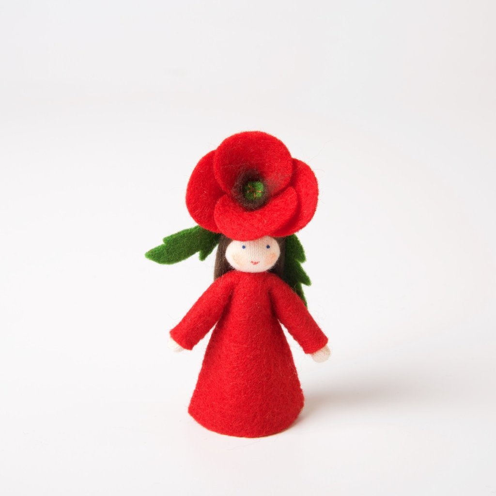 Ambrosius Felt Flower Fairy Poppy