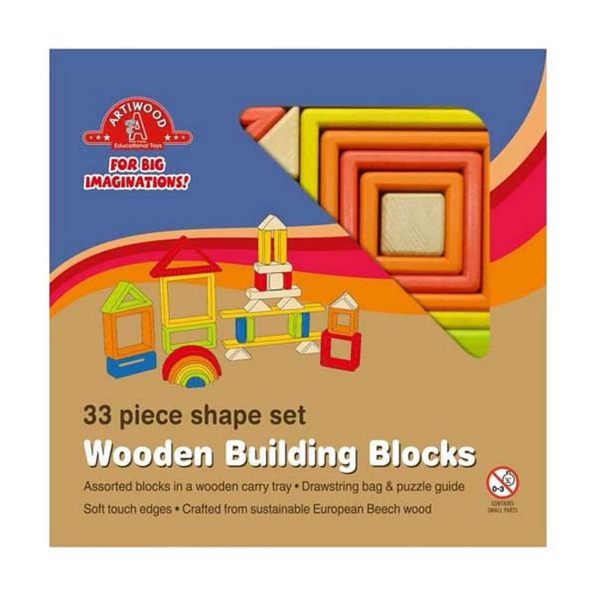 Artiwood - Wooden Shape Set 33 Pc