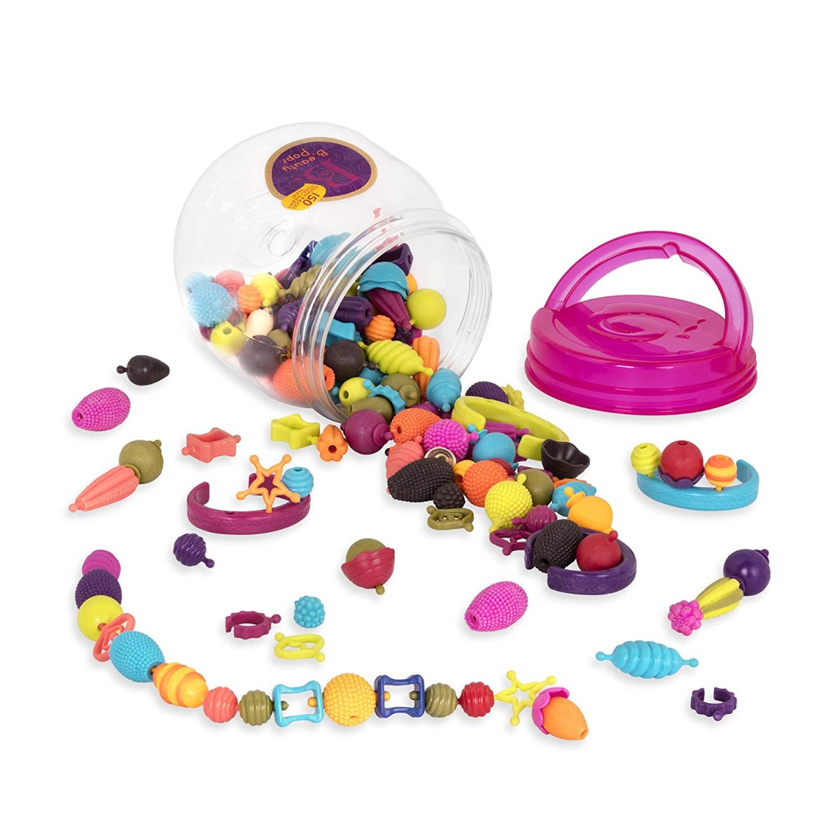 B. Toys Beauty Pops 150 Pc Snap together Jewellery Making Set